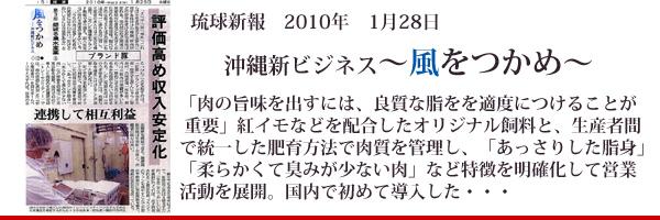 琉球新報 沖縄新ビジネス 「おきなわ紅豚」